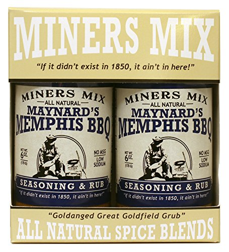 Miners Mix Maynards Memphis BBQ Seasoning. Ultimate Low N Slow Pit Barbecue Championship Rub for Smoked Pulled Pork, Butts, Baby Backs or Spare Ribs. All-Natural With Brown Sugar and Low Sodium (Steak Sauce Pork)