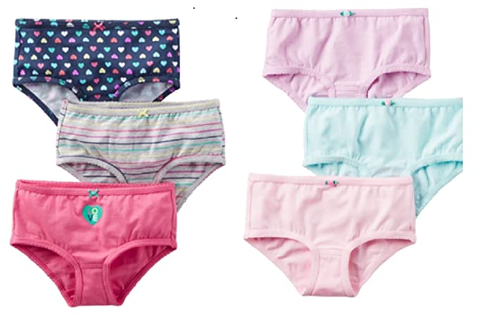 71959e073015 Amazon.com: Carters Toddler Girls 6 Pack Colorful Underwear Panties ...