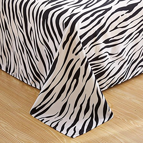 SSECHUN Active Zebra Natural Microfiber, Cotton Pure Color bedspread sheets With Winter Please contact us if you specify color (king/ ca king size, Different - Cotton Pure Limited