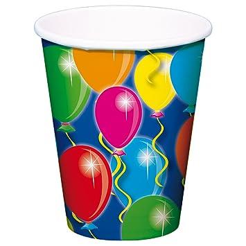 8 Vasos Globos Para Fiestas Y Cumpleanos Infantiles Fiesta Fete