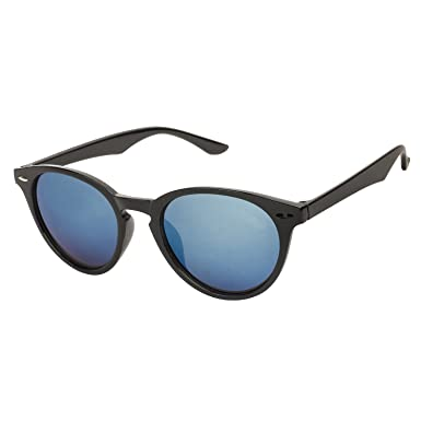 4e1b507d8d Arzonai Target Oval Shape Black-Blue Mirrored UV Protection Sunglasses For  Men   Women  MA-303-S1    Amazon.in  Clothing   Accessories