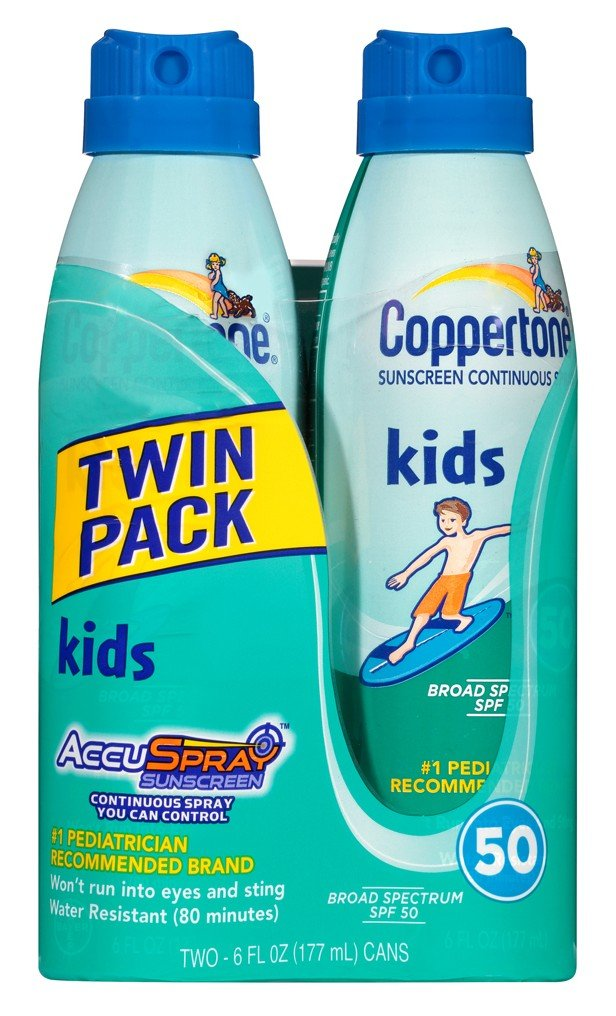 Coppertone Continuous Spf#50 Spray Clear Cars Twin Pack 6 Ounce (177ml) (3 Pack)