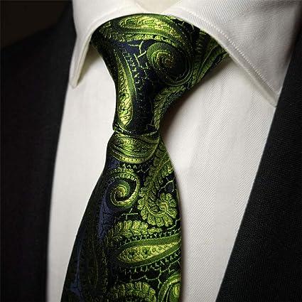 GuanBen Corbata para Hombre, Mancuernas cuadradas de Bolsillo Springgreen, Juego de 8,5