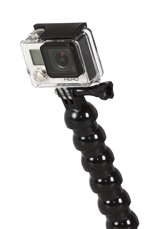 Embase Filet M/âle de 1//4-20 UNC Long.35 cm Art.No 600.ST24BK Bras Flexible pour Action Cam