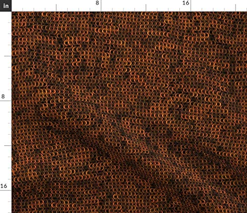 Spoonflower Medieval Fabric - Faux Chainmail Gold/Brass/Copper Costume