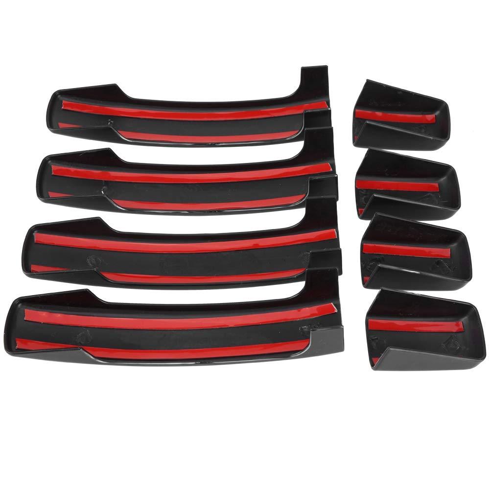 Aramox 4pcs couvercle de poign/ée de porte ext/érieure noir brillant pour Sport Discovery 3 Freelander 2