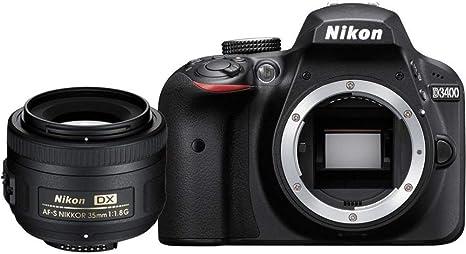 Nikon D3400 + AF-S DX NIKKOR 35mm f/1.8G Juego de cámara ...