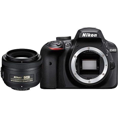 Nikon D3400 + AF-S DX NIKKOR 35mm f/1.8G Juego de cámara SLR 24,2 ...