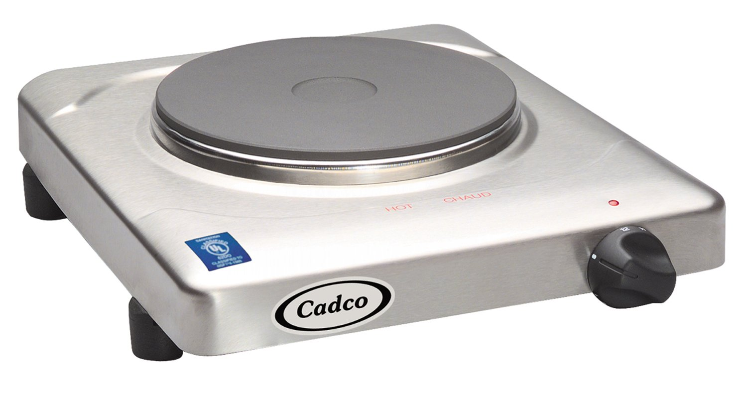 Cadco KR-S2 Portable Cast Iron 120-Volt Hot Plate
