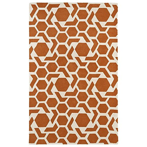 Kaleen Rugs Revolution Collection REV05-89 Orange Hand Tufted 8' x 11' Rug