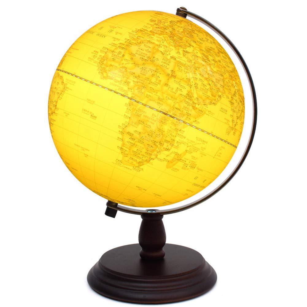 Globo 20 Cm 3 dimensiones de relieve Globe Hd Archaize para restaurar antiguas formas Estudiantes Artículos especiales de equipamiento de estudio 25 Cm alto 32cm con lámpara de luz De Escritorio