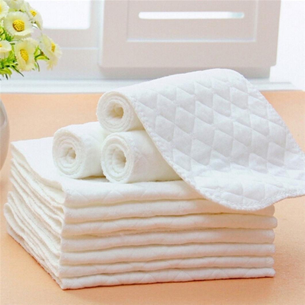 Covermason 5pcs Lot de linges de protection pour couche lavable en microfibre et bambou Coermason