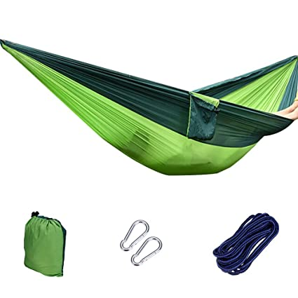 Army Green Travel Outdoor Camping Tent Hanging Hammock Sleeping Bed w Sack