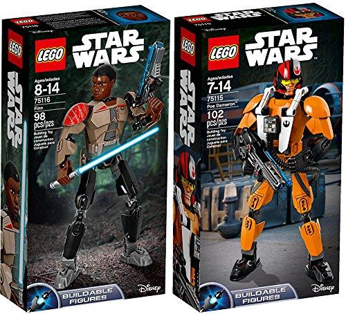 Juego de figuras de Lego Star Wars Poe Dameron & Finn - 75116 + 75115 edition Set de construcción