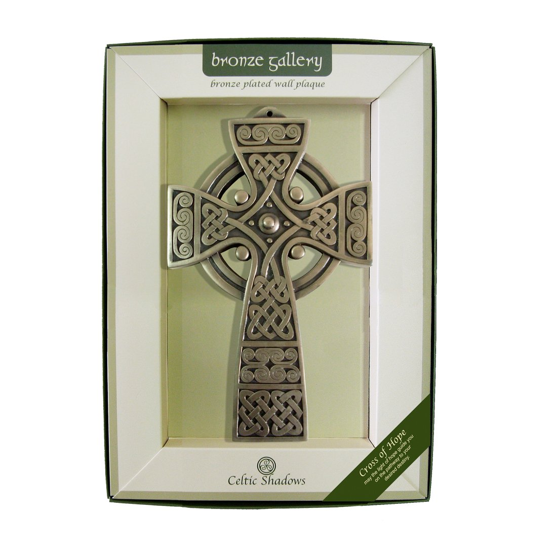 Irish Bronze Plated Wall Plaque with Cross of Hope Design by Royal Tara