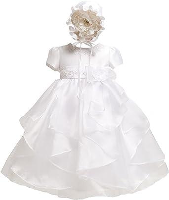 Newborn White Christening Baby Princess Girls Dress Wedding Baptism Kids Clothes
