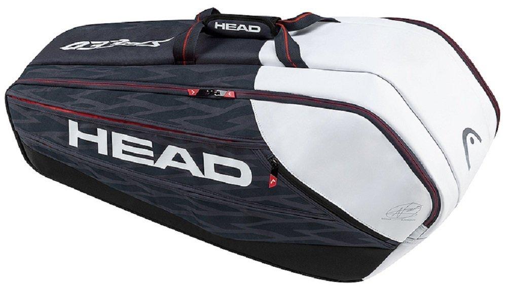 HEAD Djokovic 9R Supercombi Tennis Bag [並行輸入品] B077QQRFSS