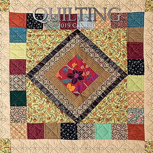 (2019 Wall Calendar - Quilting Calendar, 12 x 12 Inch Monthly View, 16-Month, Hobby and Activities Theme, Includes 180 Reminder Stickers)