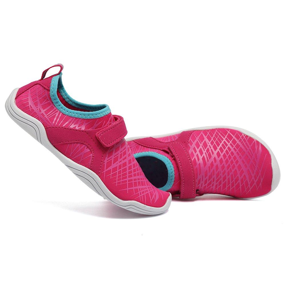 Fanture Girls & Boys Water Shoes Lightweight Comfort Sole Easy Walking Athletic Slip on Aqua Sock(Toddler/Little Kid/Big Kid) U4JSX001-Pink-33 by Fanture (Image #3)
