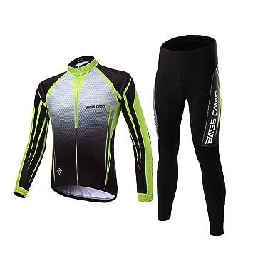 d.Stil Herren Radtrikot Set Langarm mit Sitzpolster UV Schutz f/ür MTB Rennrad Fahrrad Jersey XXXXL Tr/ägerhose Radsportanzug M