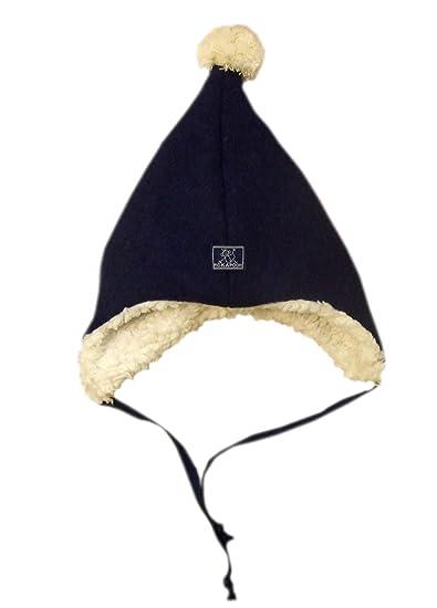 ea830670cb5 Amazon.com  Pickapooh Hat 100% Merino Wool Boiled Plush Baby Boy Girl  Children Pompon Winter Earflap Jim  Clothing