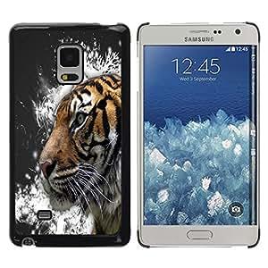 Be Good Phone Accessory // Dura Cáscara cubierta Protectora Caso Carcasa Funda de Protección para Samsung Galaxy Mega 5.8 9150 9152 // Tiger Snow Crystals Painting Grey