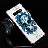 ikasus Case for Galaxy S10 Plus,Crystal Clear Art