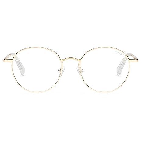 cb0f105c3c47 Amazon.com  QUAY AUSTRALIA Unisex I See You - Blue Light Glasses Gold Clear  Blue Light One Size  Clothing