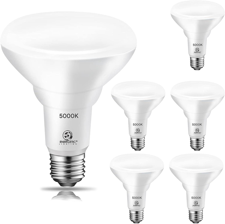 LED Flood Light Bulbs, 900LM, 11W=75W, Dimmable LED can Light Bulbs, Daylight 5000K, E26 Base, UL Listed, Damp Rated, 6 Pack