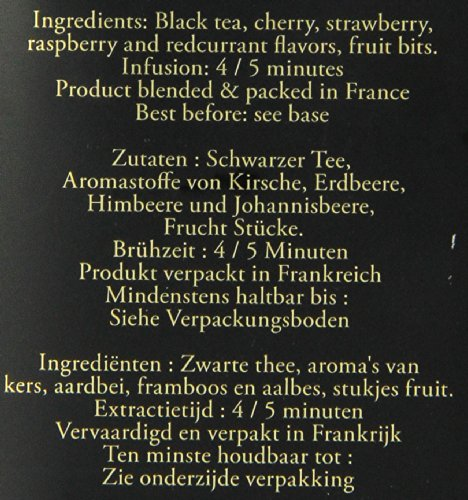 DAMMANN FRERES Quatre Fruits Rouges Loose Tea, 3.5 Ounce Tin by Dammann Freres (Image #1)