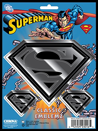 Chroma Graphics Chroma 3016 Superman Classic Emblem Decal (Superman Decal)