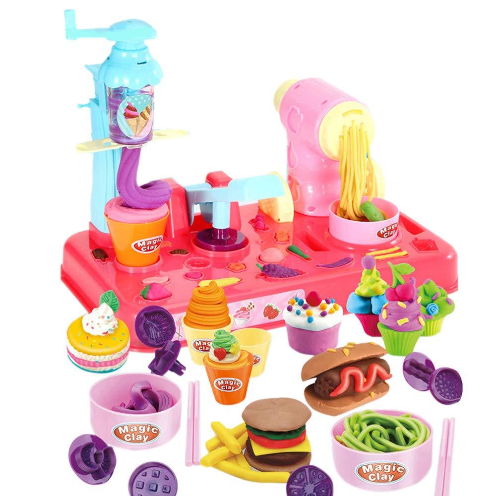Bescita Pretend Spielzeug - DIY Nudeln Little Chef Edelstahl Geschirr Spielzeuge Kochgeschirr Kü che Spielzeug Kü che Spielzeug Tö pfe Pfannen Geschenk Pretend Toy (A)