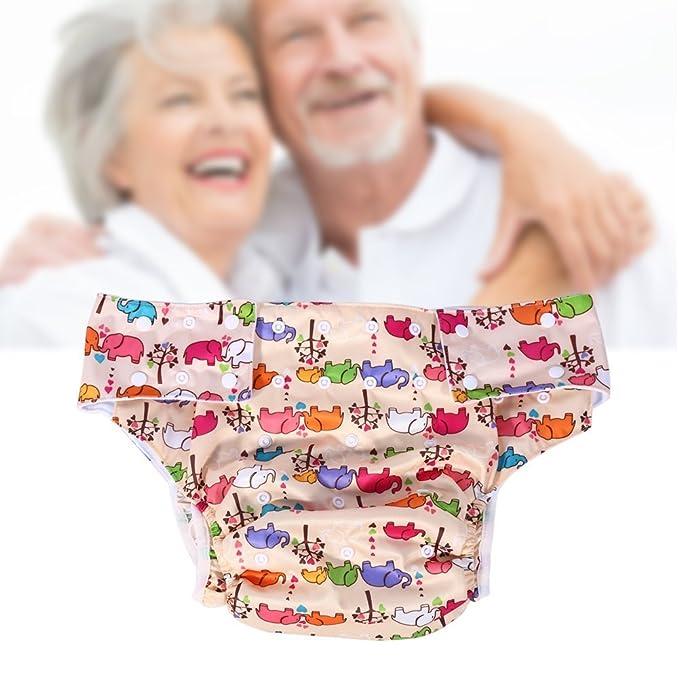 Adultos pañales de tela lavable para cuidado de incontinencia - Apertura el bolsillo ajustable reutilizable,adecuado para las personas mayores: Amazon.es: ...
