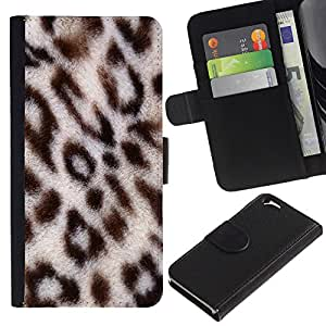 EuroTech - Apple Iphone 6 4.7 - Leopard Africa Big Cat Animal Pattern Fur - Cuero PU Delgado caso Billetera cubierta Shell Armor Funda Case Cover Wallet Credit Card