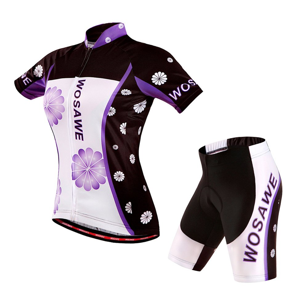 CA QLFAN Men's Women's Summer Short Sleeve Cycling Jersey Set Apparelsales