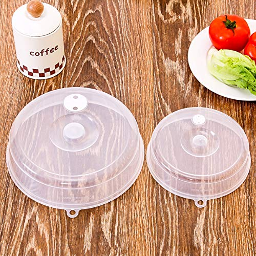 Jinxuny 1PC Sealing Cover Transparent Reusable Lids Fresh Seal Food Heating Cover Oil Preventer Cover Refrigerator Oven Non-Toxic for Microwave Bowl Containers Kitchen BBQ (Color : -