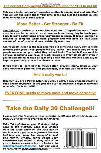 the daily 30 the quick everyday bodyweight workout basic fitness