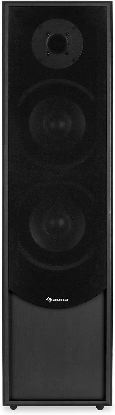 Auna Linie-300-BK 80W RMS Passive Tower Speaker Black