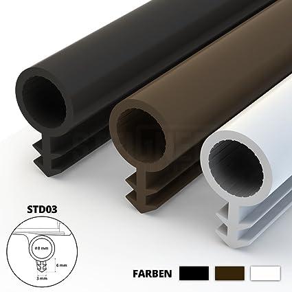 Steigner Guarnizione Per Porta Finestra Std03 10 M 8 Mm Bianco Guarnizione In Gomma Profilo Per Porte E Finestre In Legno Pvc Alluminio