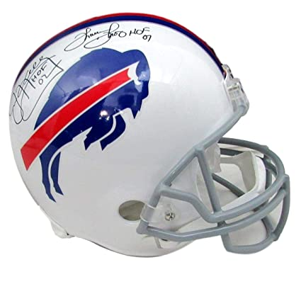 6d71c218e40 Image Unavailable. Image not available for. Color  Jim Kelly Thurman Thomas  Bills Autographed Signed Full Size Helmet JSA 137714