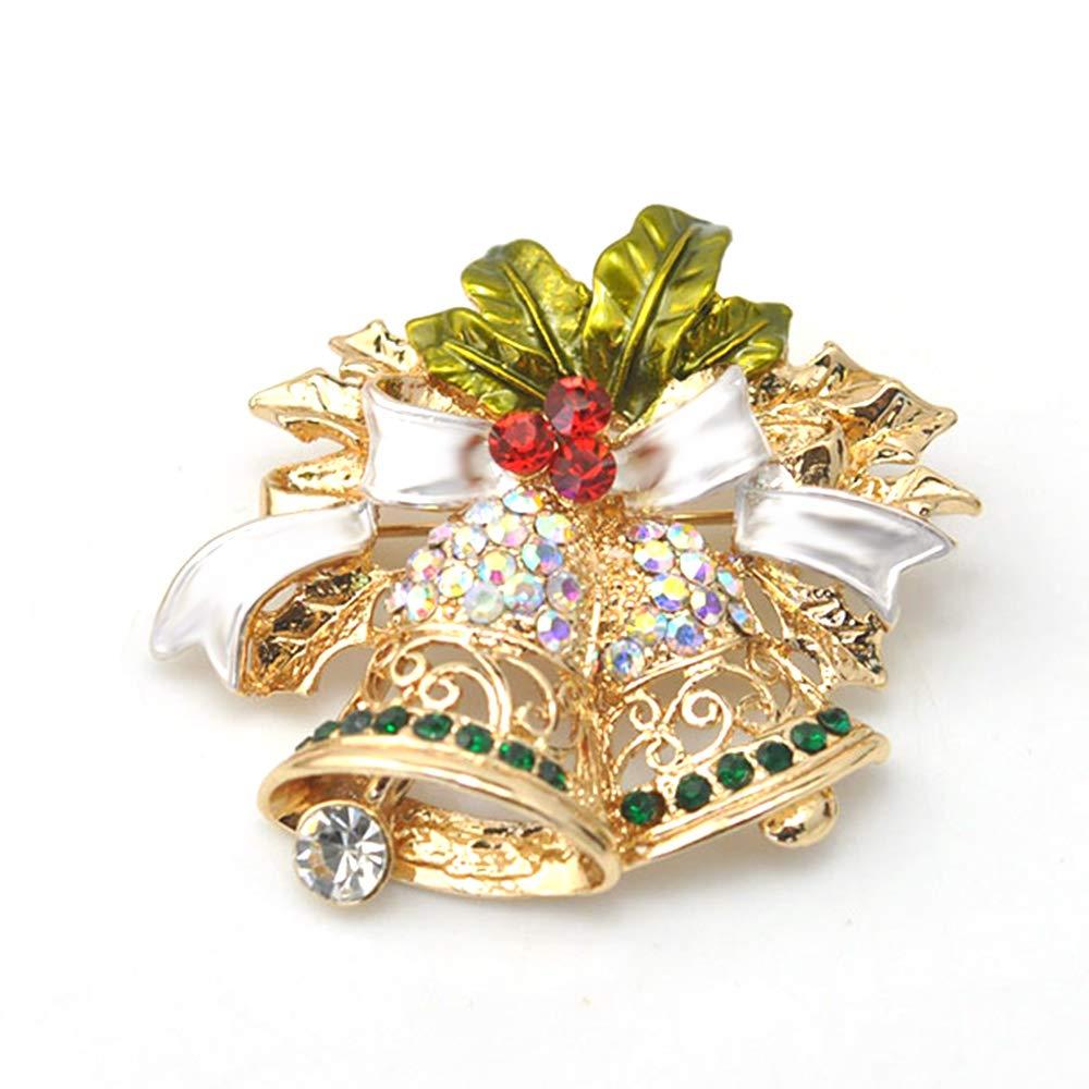 Speciale Sveglio di Natale di Figura di Stile Natale Oro Campana Dono Spilla per la Femmina CTGVH Spilla di Natale per Ragazze Donne