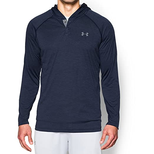 7f84324fc Under Armour Men's Tech Popover Hoodie, Midnight Navy (410)/Steel, Small