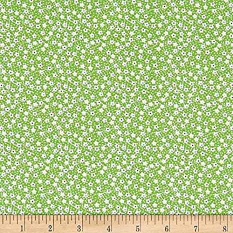Fabric By The Yard Blue//White Santee Print Works Vintage Miniatures Flowers Fabric