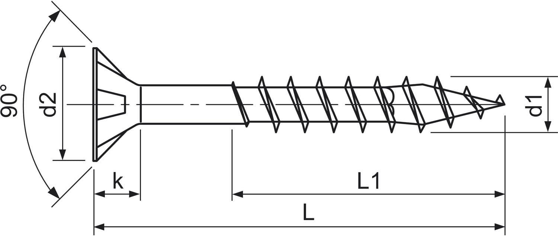 gelb verzinkt Spax 0//1050//021//4,0//30// //01 Tornillo para Yeso 4x30mm