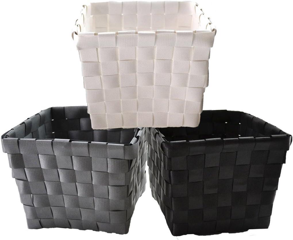 Bada Bing Panier de rangement pratique bo/îte d/écorative effet rotin 3/couleurs blanc gris anthracite