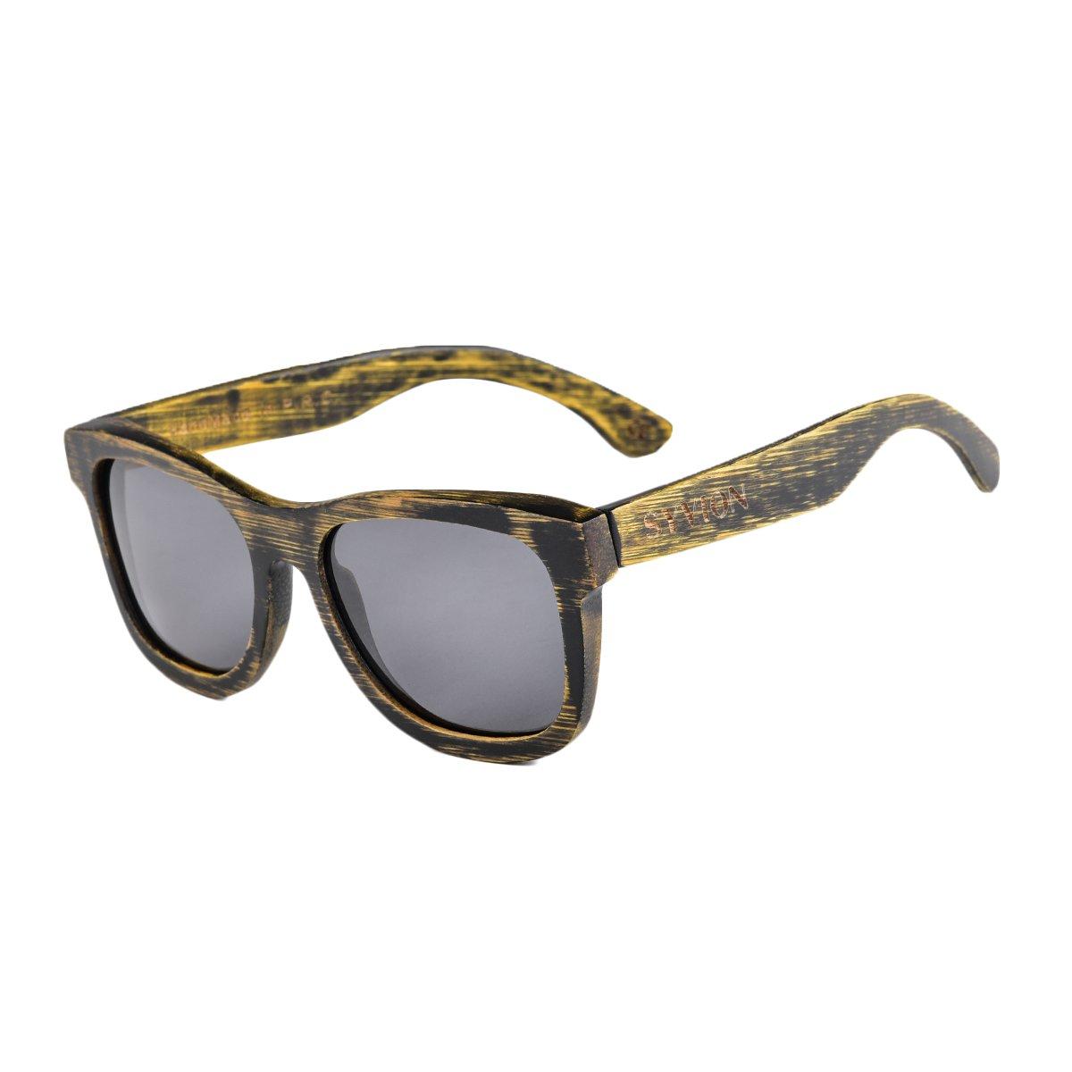 Amazon.com: syvion polarizada anteojos de sol de madera para ...