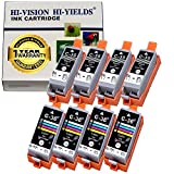 HI-VISION® Compatible Set of 8 Canon PGI-35, CLI-36 Ink Cartridge Replacement for PIXMA iP100, iP110 (4 Black, 4 Tri Color)