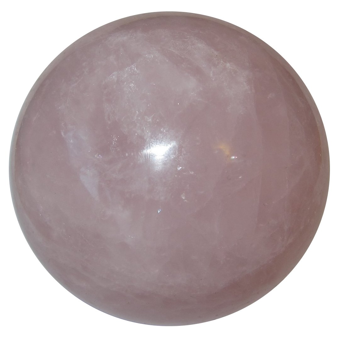 Rose Quartz Ball 57 Pink Crystal Sphere Soothing Energy Healing Relaxation Stone Gem 3'' by SatinCrystals
