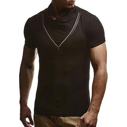 Hombre Camiseta Verano Tops Manga Corta,Sonnena La Blusa Superior de la Manga de la