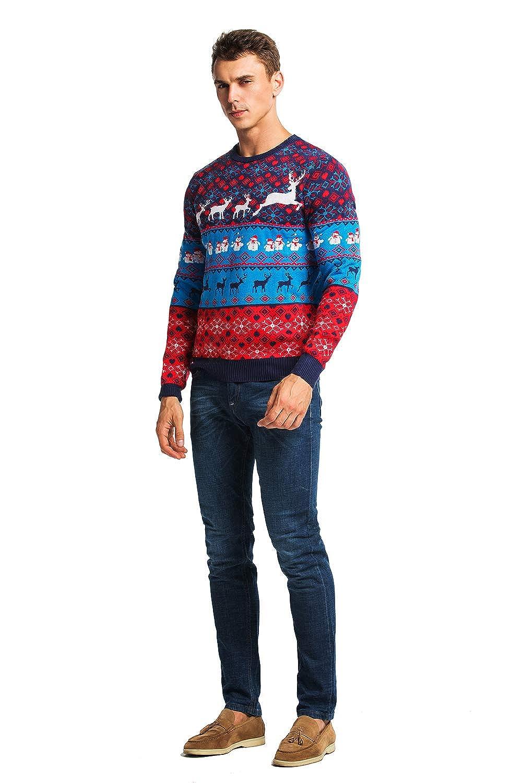 Damen Weihnachtspullover Lustig Unisex H/ässliche Pulli Strickpullover Ugly Weihnachtspulli mit weihnachtlichen Motiven f/ür Damen Herren Weihnachtsparty